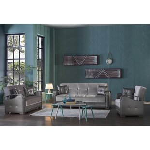 Aki 3 Piece Sleeper Living Room Set by Wrought Studio™