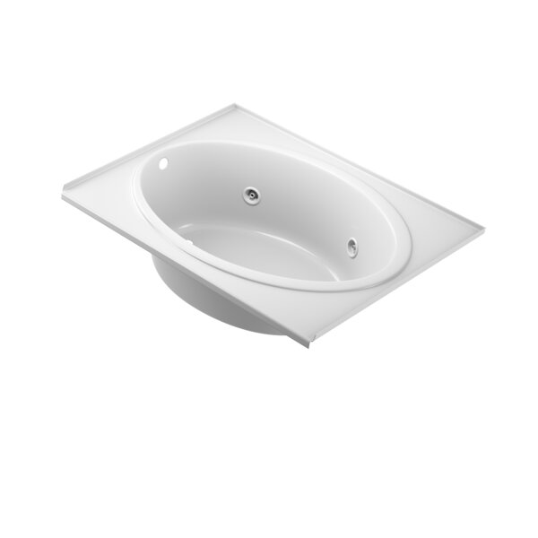 Nova Tile-Flange Left-Hand 60 x 42 Drop in Whirlpool Bathtub by Jacuzzi®