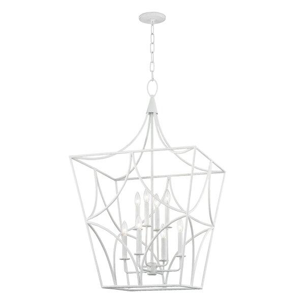 Rutledge 8 - Light Lantern Geometric Chandelier By Everly Quinn