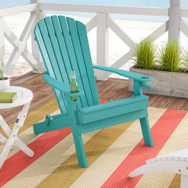 Aryana Plastic Folding Adirondack Chair By Beachcrest Home
