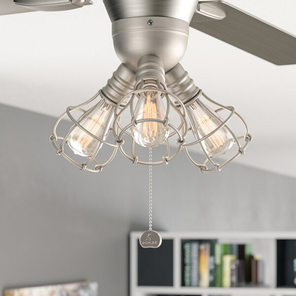 Kassandra 3-Light Branched Ceiling Fan Light Kit by Williston Forge