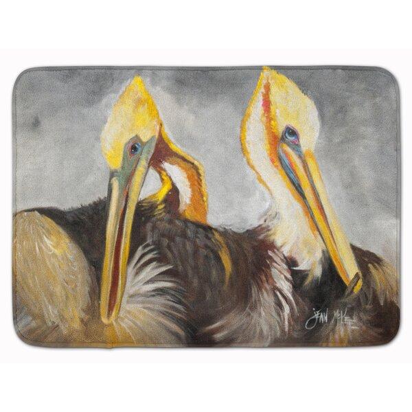 Pelicans Preening Memory Foam Bath Rug
