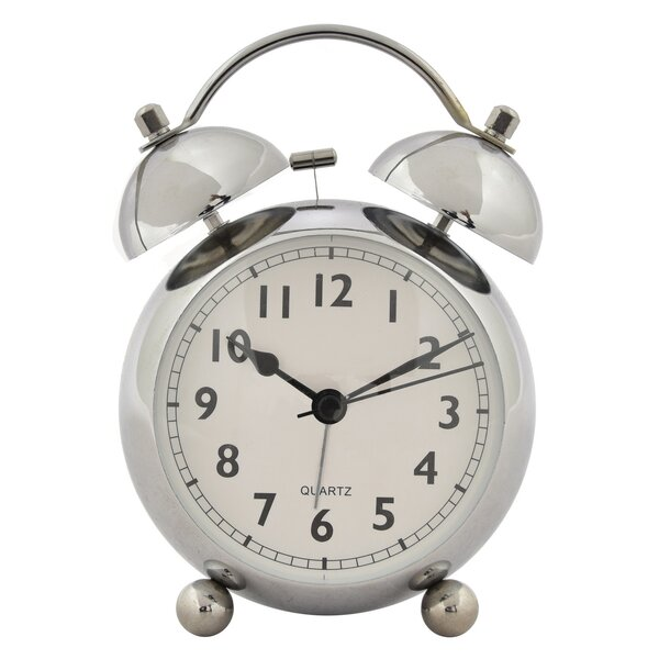Metal Alarm Tabletop Clock by Canora Grey