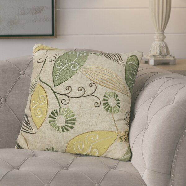 Olevia Embroidered Throw Pillow by August Grove