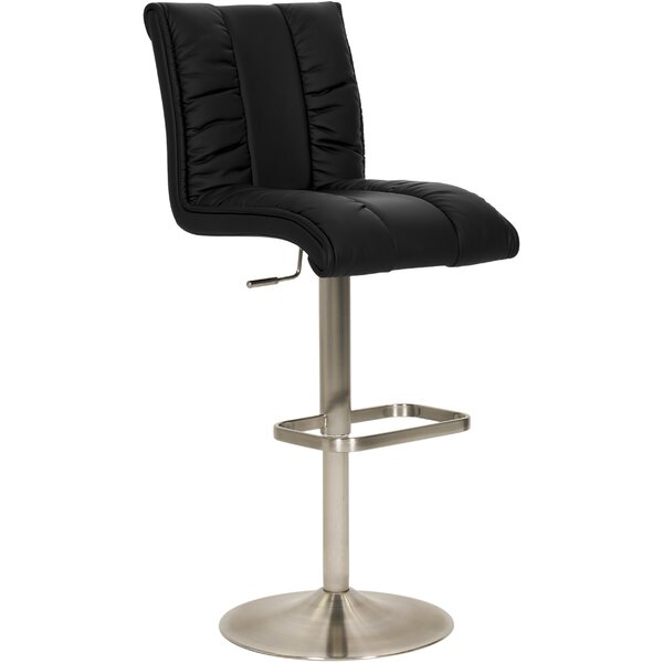 Duechle Mix Adjustable Height Swivel Bar Stool by Orren Ellis