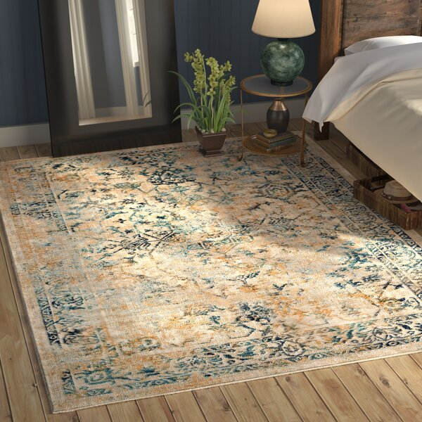 Herring Teal/Navy Area Rug by World Menagerie
