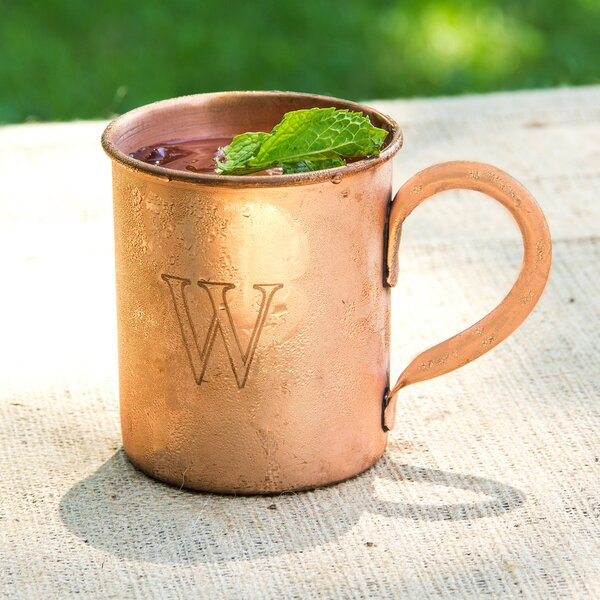Personalized Moscow Mule Copper Mug with Polishing Cloth by Cathys Concepts