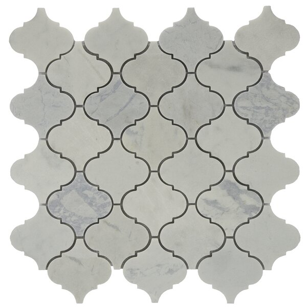 Shrine Fog Marble Tile in White/Grey by Byzantin Mosaic