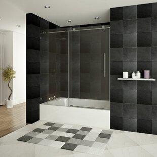 Check Prices Ultra-C 60'' x 62'' Single Sliding Bath Tub Door ByLessCare
