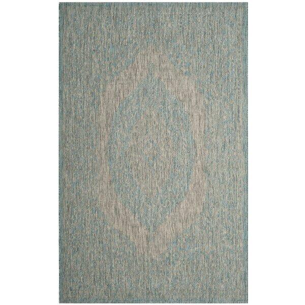 Myers Gray/Aqua Indoor/Outdoor Area Rug by Mistana