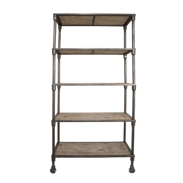 Loftis Fabulous Metal Wood Etagere Bookcase by 17 Stories