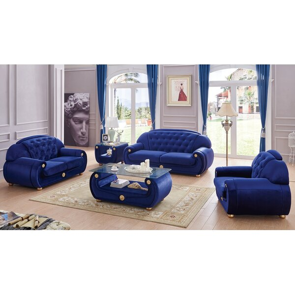 Alleyne Configurable Living Room Set by Everly Quinn