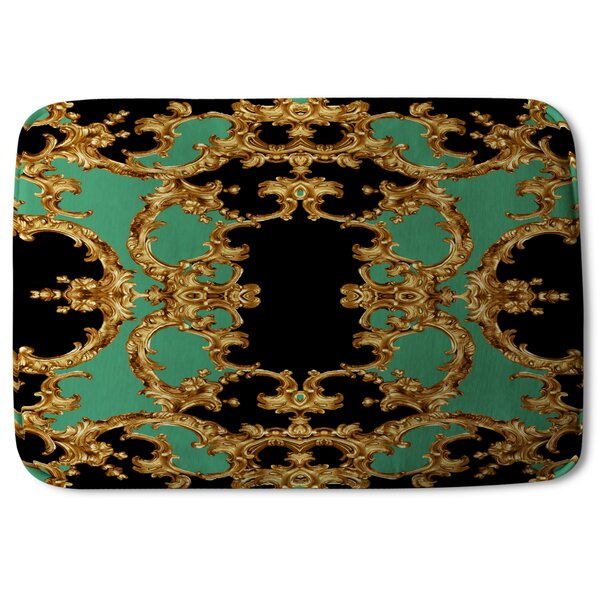 Folkeste Baroque Designer Rectangle Non-Slip Bath Rug
