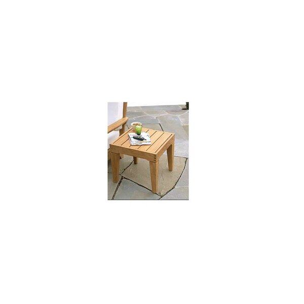 Macleod Grade A Caranasas Square Teak Side Table by Highland Dunes