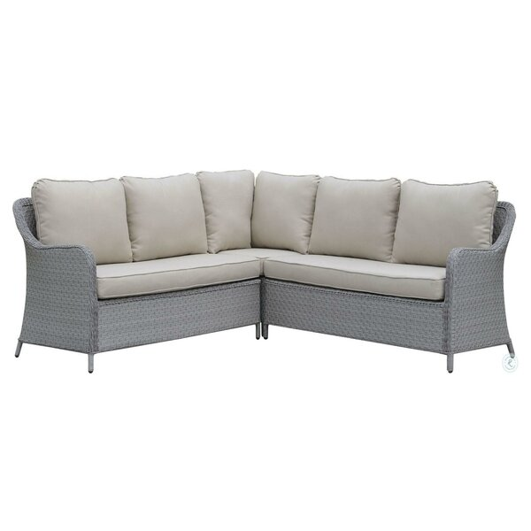 Calix 2 Piece Sectional Seating Group with Cushions by Latitude Run