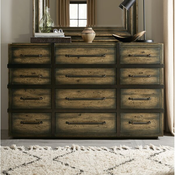 American Life-Crafted 12 Drawer Dresser by Hooker Furniture