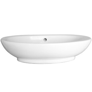 Shop For Infinity Vitreous China Oval Vessel Bathroom Sink with Overflow By Barclay