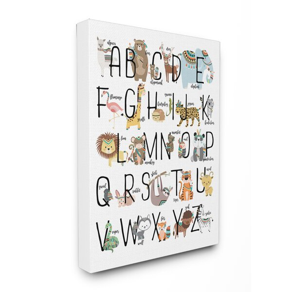 Boho Animal ABCs Canvas Art by Stupell Industries