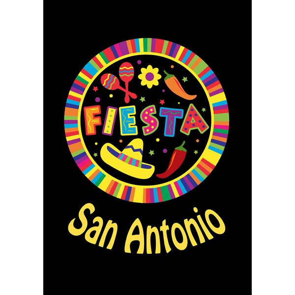 Fiesta Pin - San Antonio Garden flag by Toland Home Garden