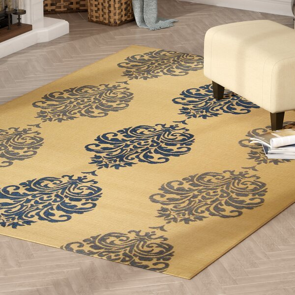 Short Natural / Blue Outdoor Area Rug by Winston Porter