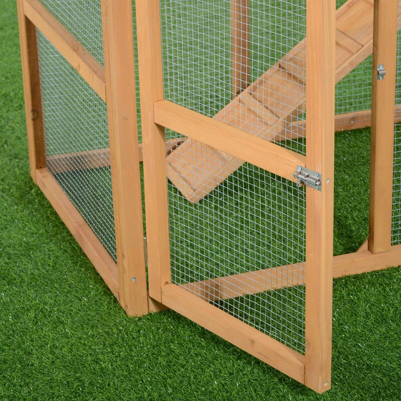 Aosom Deluxe Portable Backyard Chicken Coop with Nesting ...