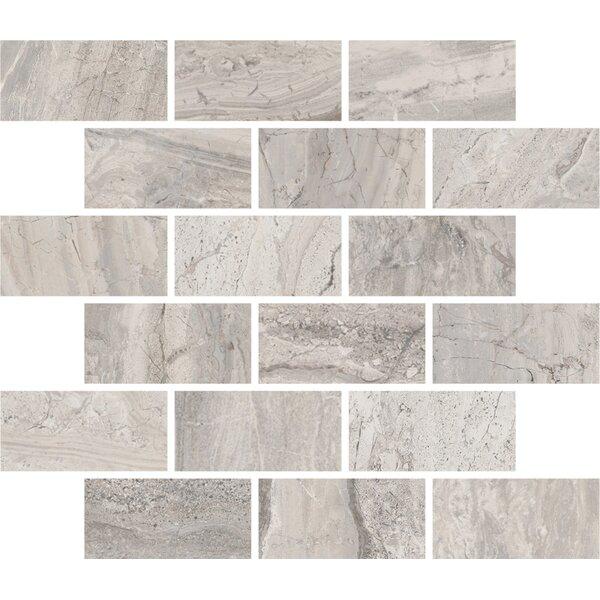Amalfi 11.5 x 11.5 Ceramic Mosaic Tile in Bianco Scala by Interceramic