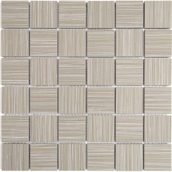 Fabrique 12 x 12 Ceramic Wood Look Tile in Gris Linen by Daltile
