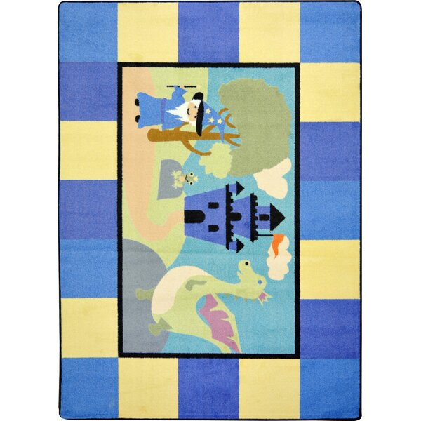 Blue/Yellow Area Rug by The Conestoga Trading Co.