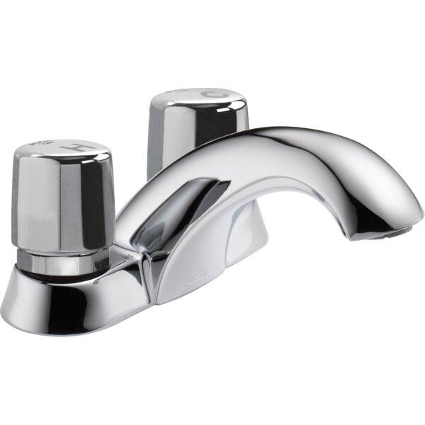 Metering Centerset Bathroom Faucet By Delta