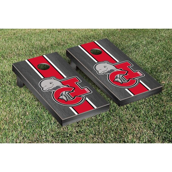 Cal State Channel Islands Dolphins Onyx Stained Stripe Version Cornhole Game Set by Victory Tailgate