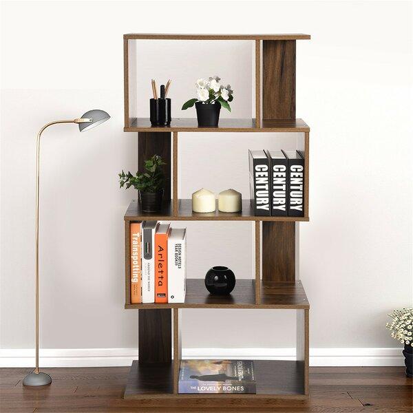 Dawnette Freestanding Decorative Storage Shelving Geometric Bookcase By Latitude Run