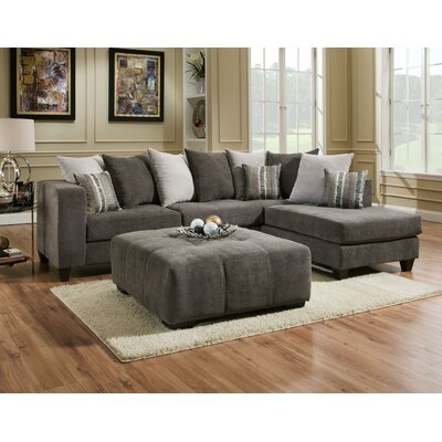 Wade Logan Right Hand Facing Sectional Ottoman Sectionals