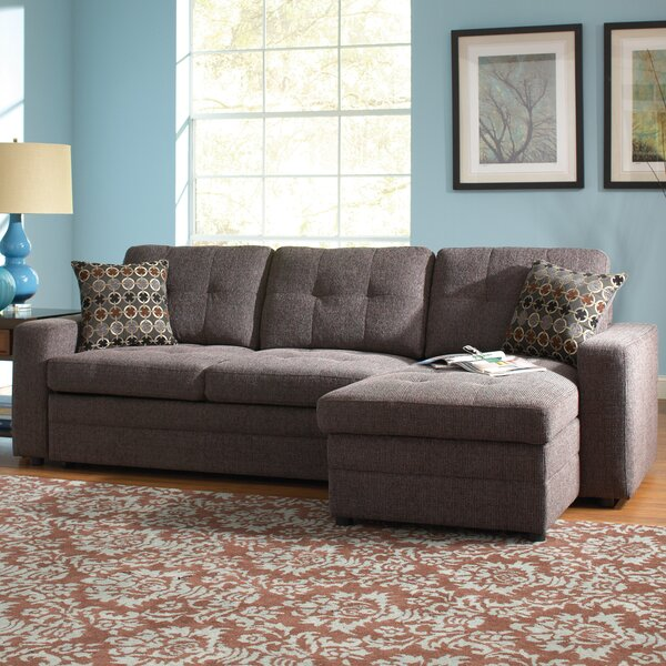 Chanelle Right Hand Facing Sleeper Sectional with Ottoman by Red Barrel Studio Red Barrel Studio