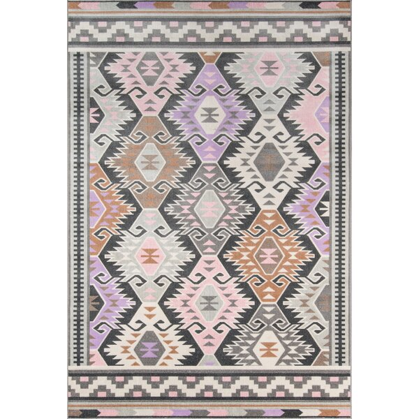 Boho Holiday Indoor/Outdoor Pink/Lilac Area Rug by Novogratz