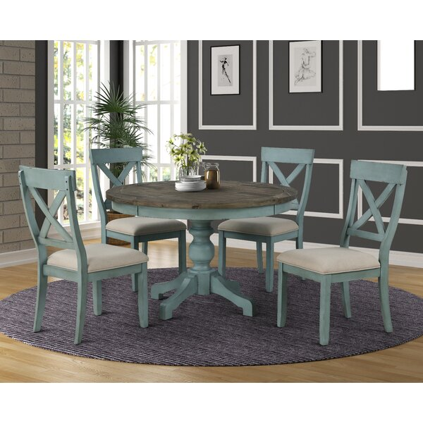 Cierra Round Table 5-Piece Dining Set by Ophelia & Co. Ophelia & Co.
