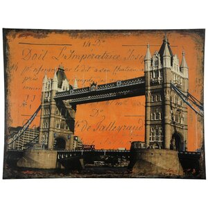 London Bridge Graphic Art on Wrapped Canvas by Oriental Furniture