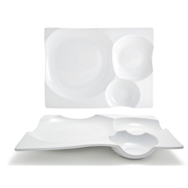 Manie™ 12 x 9 Bento Platter (Set of 2) by Mint Pantry