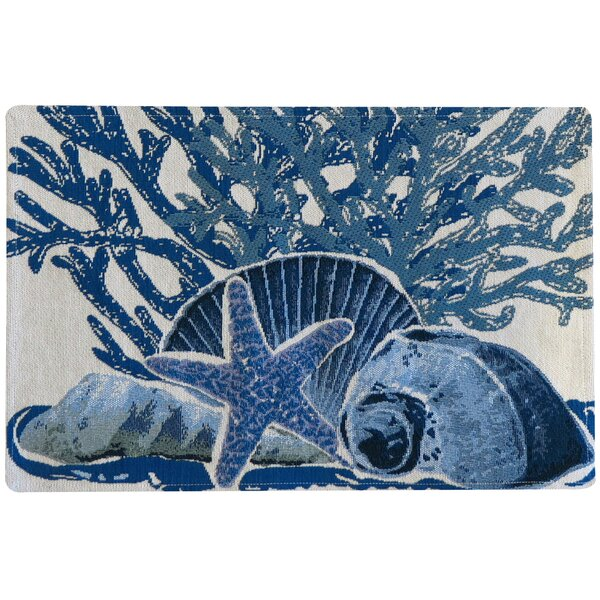 Burling Starfish Collage Tapestry Placemat (Set of 4) by Highland Dunes