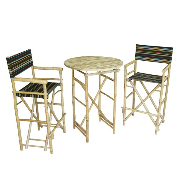 Kherodawala 3 Piece Bar Height Dining Set by Bloomsbury Market