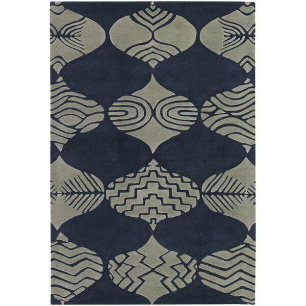 Donnan Blue/Ivory Rug by Bloomsbury Market