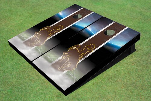 NCAA 10 Piece Field Long Strip Matching Cornhole Board Set by All American Tailgate