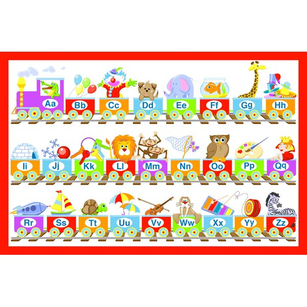 Alphabet Train Juvenile Vinyl Placemat (Set of 6) by Elrene Home Fashions
