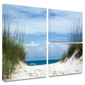 Ocean Path' by Antonio Raggio 3 Piece Photographic Print on Wrapped Canvas Set by ArtWall