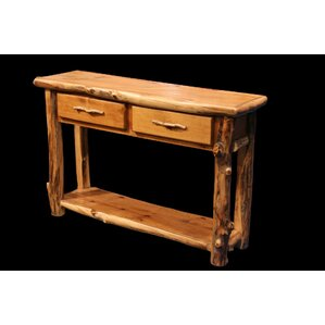 Aspen 2 Drawer Console Table with Shelf by U..