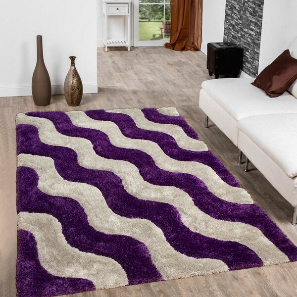 Tufted Lilac/Grey Area Rug by AllStar Rugs