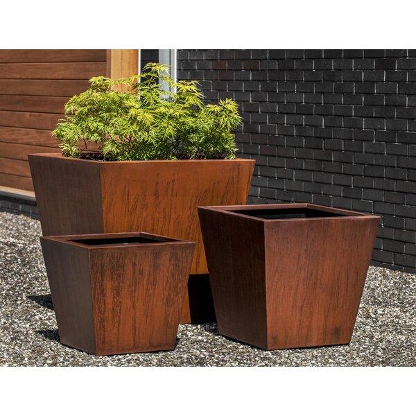 Rieke Steel Tapered Planter (Set of 3) by Brayden Studio