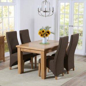 Essgruppe Stoke mit ausziehbarem Tisch und 4 Stühlen von Home Etc