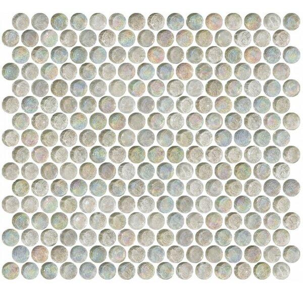 0.75 x 0.75 Glass Mosaic Tile in Clear by Susan Jablon