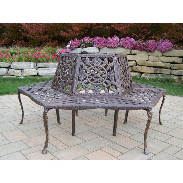 Robertsdale Aluminum Tree Bench by Fleur De Lis Living