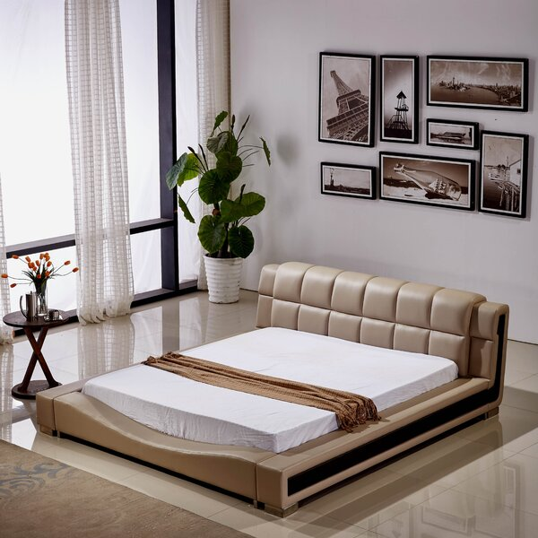 Pottorff Elegant Upholstered Platform Bed by Brayden Studio